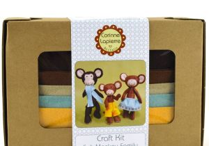 Family Birthday Board Kit Canada Monkey Family Felt Craft Kit by Corinne Lapierre
