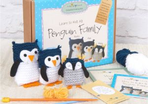 Family Birthday Board Kit Canada Penguin Family Learn to Knit Kit by Charlie Hannah