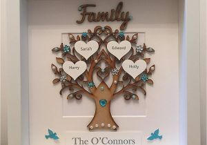 Family Birthday Board Kit Canada Personalised Family Tree 3d Box Frame Picture Keepsake Wedding Gift