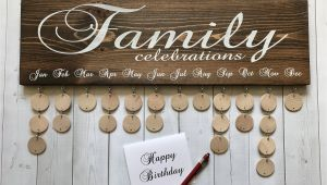Family Birthday Board Kit Family Celebrations Board with Natural Discs Birthday Etsy