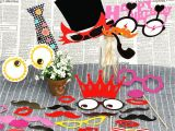 Family Birthday Board Kit Putwo Photo Booth Props Kit for Birthday Party Party Supplies Party