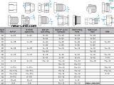 Flex Duct Sizing Chart Fitting Thread Size Chart