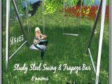 Flexible Flyer Iris Swing Set Steel Swing Set Three Leg Design Offers Extra Stability On