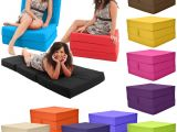 Fold Out Chair Bed for Adults Gilda Fold Out Adult Cube Guest Z Bed Chair Stool Single
