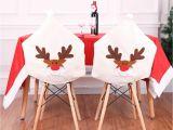 Forros Para Sillas De Fiesta Compre Patra N De Reno Bordado Silla De Navidad Contraportada