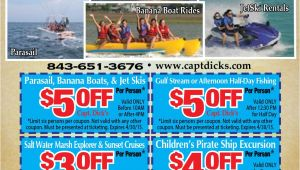 Fort Sumter tours Coupons Crazy Sister Marina Myrtle Beach Resorts Coupons for Myrtle