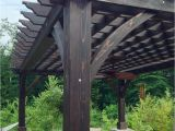 Freestanding Outdoor Curtain Rod with Post Set Cherry Hill Pergola Options 20 X 14 Redwood Electrical Wiring