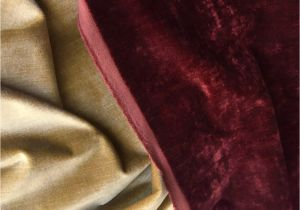 French Ticking Fabric by the Yard Red Velvet Upholstery Fabric by the Yard Brick Red Velvet Home