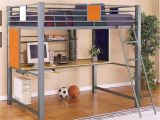 Full Size Loft Bed with Desk Underneath Plans Gray Metal Full Size Loft Bed with Computer Desk and