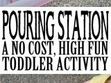 Funny Health and Safety Moment Ideas Pouring Station Activity for toddlers tot School Ideas toddler