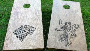 Game Of Thrones Cornhole Game Of Thrones Custom Cornhole Game Lannister and Stark