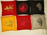Game Of Thrones Cornhole Game Of Thrones Embroidered Cornhole Bags Homemade by