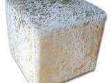 Gold Cube for Sale Canada On Sale Hair On Cowhide Cube Ottoman Footstool by Cowhidesusa