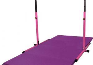 Gymnastics Bar with Mat Combo Gym Pack Adj Pink Horizontal Bar with 8 39 Purple