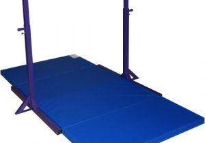 Gymnastics Bar with Mat Gymnastics Mini High Bar and 2 39 Thick Folding Mat without