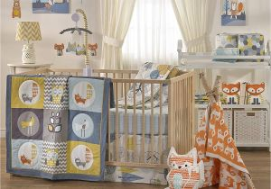 Half Baby Crib attached to Bed Crib Bedding Set Baby Living Woods Wildlife Rustic Boy Girl Nursery