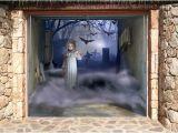 Halloween Garage Door Covers 3d Effect Garage Door Billboard Cover Ghotic Girl