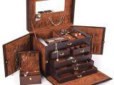 Hanging Traveler Case 31 Amazon Com Kendal Brown Leather Jewelry Box Case Storage organizer