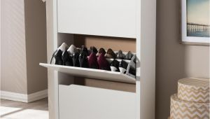 Home Depot Shoe Storage Cabinets Martha Stewart Living 24 In Classic White Shoe Shelf 3 Pack W6