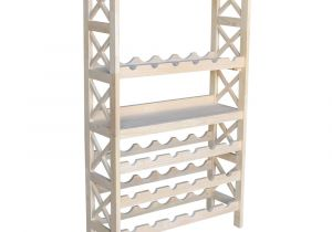 Home Depot Wire Shoe Racks International Concepts 24 Bottle Unfinished solid Wood Wine Rack Wr