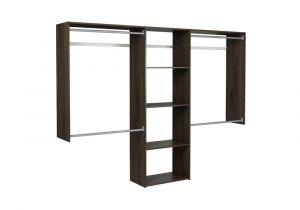 Home Depot Wire Shoe Racks Martha Stewart Living 14 In D X 96 In W X 72 In H Espresso Wood