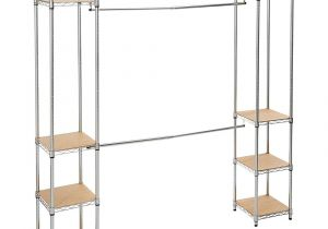 Home Depot Wire Shoe Racks Trinity 14 In D X 78 In W X 84 In H Chrome Expandable Wire Closet