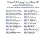 Home Storage solutions 101 Calendar 52 Weeks to An organized Home Join the Weekly Challenges Free