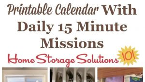 Home Storage solutions 101 Declutter January Declutter Calendar 15 Minute Daily Missions for Month