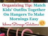Home Storage solutions 101 organized Home Simple Tip to Help Adults Kids Get Ready In the Morning Faster