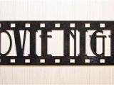Home theater Wall Decor Plaques Signs Movie Night New Metal Wall Art Home theater Decor