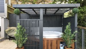 Hot Tub Designs and Layouts Modern Grey Pergola Lazy Spa Hot Tub Iroko Surround House Hot