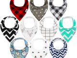 How to Check Cotton On Gift Card Balance Amazon Com 10 Pack Baby Bandana Drool Bibs for Drooling and