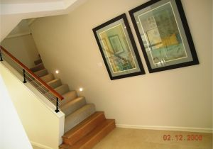 How to Decorate A Half Wall Ledge Half Height Wall Timber Bullnose Timber Handrail and Stainless