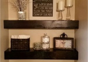 How to Decorate A Half Wall Ledge Pin by Ganna Kidd On Bath Pinterest Bathroom Floating Shelves