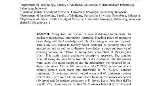 How to Get Rid Of Mosquito Larvae In Standing Water Pdf Identification Of Mosquito Larva In Water Containers In Line