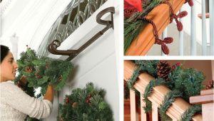 How to Hang Garland Around Front Door with Vinyl Siding How to Hang Garland Improvements Blog