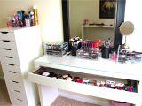 Ikea Alex Drawer Desk Dupe Bedroom Interesting Ikea Makeup organizer for Your Bedroom Design