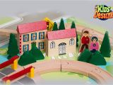 Imaginarium All In One Wooden Kitchen Set Instructions Amazon Com Kids Destiny Wooden Train Set for Thomas and Brio 50
