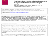 In House Financing In Beaumont Tx Pdf From Inquiry Based Learning to Student Research In An