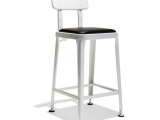 Industry West Octane Bar Stool Counter Bar Stool Industrial Modern Metal and Leather Stool