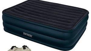 Intex Air Mattress Losing Air Intex 66718 Raised Queen Air Bed with Built In Electric
