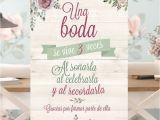 Invitaciones De Boda Sencillas Hechas En Casa Cartel Una Boda Se Vive Tres Veces Wedding Church Decor Pinte