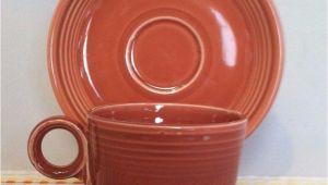 Is Old Fiestaware Microwave Safe Vintage Fiestaware Rose Cup Saucer Vintage Fiesta 50s Pink Ring