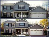 James Hardie Night Gray Photos before after Blakemore Aged Pewter Lake House Exterior House