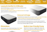 King Koil Air Mattress Reviews Amazon Com King Koil Queen Size Luxury Raised Air