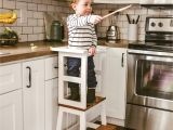 Kitchen Helper Stool Ikea Canada Little Chef Stool top Kid Step Stool toddler Step Stool Etsy