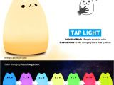 Kuchi Kopi Night Light Ikea Amazon Com Mystery Cat Night Light for Kids soft Silicone Led Baby