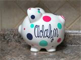 Large Personalized Piggy Banks Large Personalized Ceramic Piggy Bank with Name
