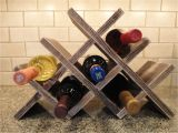 Lattice Wine Rack Diy Wine Rack Table top 8 Bottles Wood Wine by Rusticcreekwoodprod