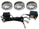 Led Puck Lights 12v Home Depot Enviro Satin Nickel Metal Led Puck Light 3 Pack I